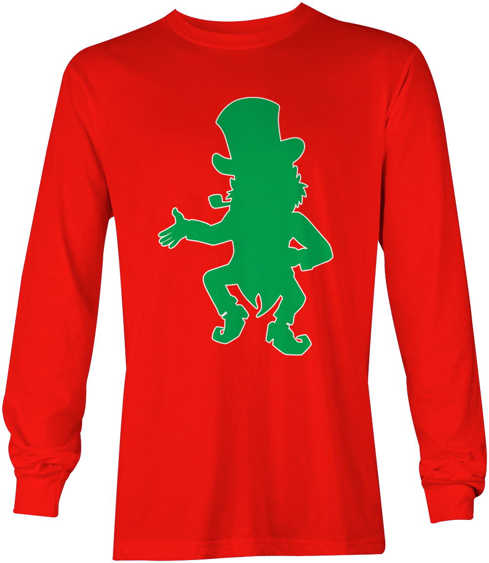 Irish Drinking Toast St Patrick S Day Shirt By: Leprechaun Silhouette- St. Patrick's Day Ireland Irish